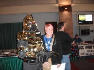 Cylon and a fan