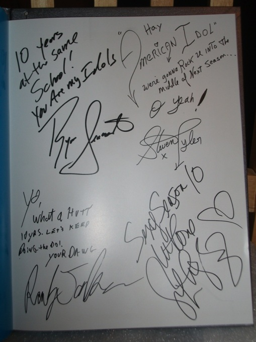 From Fox VIP, autographs of the principals.