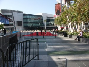 Red carpet being laid