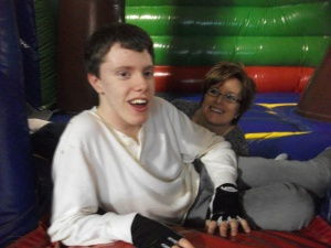Patrick & me at his 16th birthday party.
